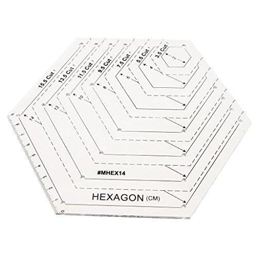 Herrscher 18 (Sharplace 18x15.5cm Hexagon Form Quilt Quilting Patchwork Herrscher Für Diy Nähen Handwerk)