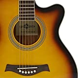 Guitare Electro Acoustique Pan Coupé Simple par Gear4music Sunburst