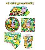 Coordinato kit n 2 compleanno tema animali della giungla per 40 persone party feste