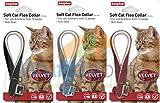 BEAPHAR VELVET CAT KITTEN FLEA TREATMENT COLLAR WITH BELL 3 PACK UP TO 1 YEARS PROTECTION