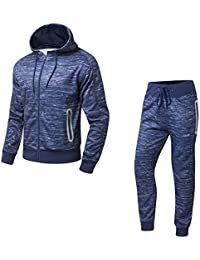 AIRAVATA Homme Ensemble Pantalon de Sport Sweatshirt à Capuche Jogging  Survêtement e806fa7c70b
