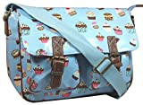 LYDC Cupcake Satchel Bag Girls School Bag Womens Handbag - Baby Blue