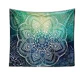 Lumanuby 1x Geheimnisvoll Orientalisch Mandala Wandbehang Polyester Indisch Mandala Tapestry mit Silhouette Mehrzweck Tuch ALS Dekotuch/Tischdecke Strandtuch oder Yoga Meditation Mat Size 148 * 130cm