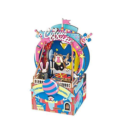 (ILYO DIY Woodcraft Music Box 92 Pcs Carnival Party Eight Creative Music Box Geschenkartikel für Männer und Frauen Liebhaber Geschenke)