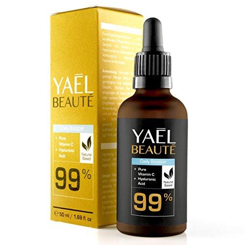 TESTSIEGER 05/2018: Vitamin C & Hyaluronsäure Serum-Konzentrat ● 99% Natürlich ● Vegan ●...