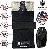 Mission Darkness Faraday-Tasche für Autoschlüssel//Abschirmung der 5. Generation für Strafverfolgungsbehörden und Militär//Anti-Hacking, Signalblockierung, Automobilschutz