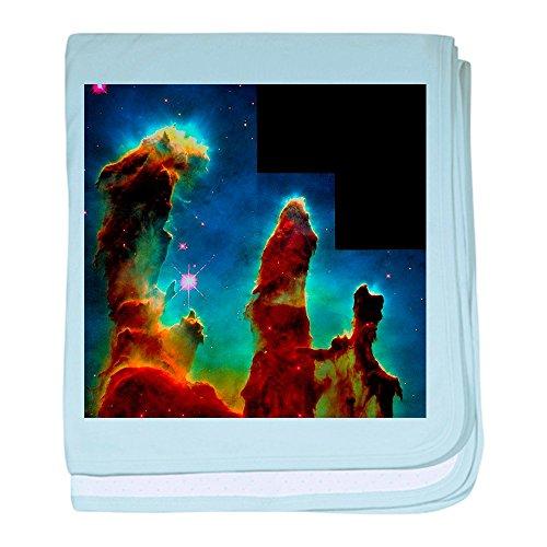 CafePress-Gas Säulen in Eagle Nebula-Baby Decke-Baby Decke, Super Weich Für Neugeborene Wickeldecke, baumwolle, himmelblau, Standard -