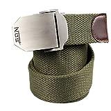 Questa cintura in cotone šš completamente regolabile, indipendentemente dalla taglia, facile e comoda da indossare. Il tessuto šš molto spesso e non si usura. La fibbia šš semplice da chiudere. Le cinture misurano tutte circa 119 cm di lunghe...