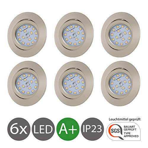 Lámpara de techo LED empotrable y redonda Ø 82 mm I Kit...