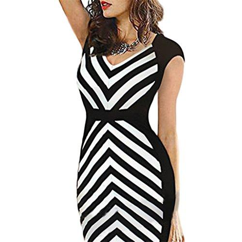 Waooh - Kleid Mit Symmetrischen Bands Alen Weiß