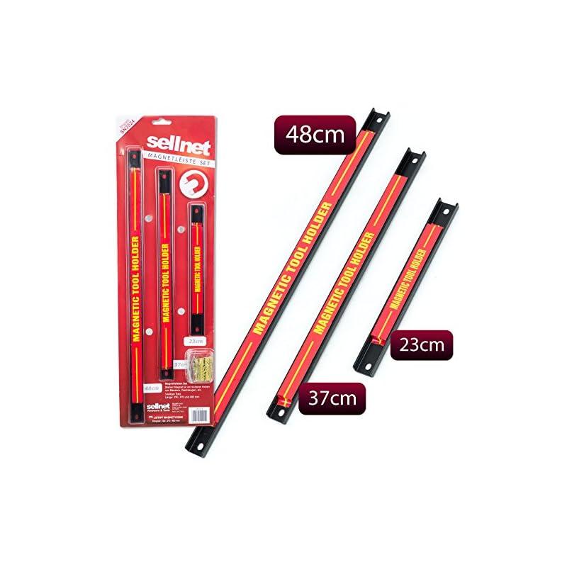 Sellnet Magnetleiste X3 Magnet Werkzeughalter Werkzeugleiste Werkzeug Halterung Sn3524