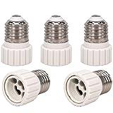 capolida 5pcs E27 à GU10 Lampe Ampoule de base Socket lampe adaptateur convertisseur Support pour convertisseur, LED culot de lampe adaptateur