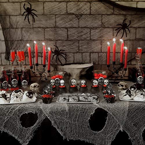 Toyvian Halloween Deko Stoff Dekostoff Tuch Decke, 2 STÜCKE Horror Halloweenstoff 6.6ft x 177