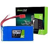Green Cell® Batterie Akku für Drone Quadrocopter Syma X8C X8G X8HC X8HG X8HW X8W ( Li-Polymer, 2400 mAh, 7.4V, 25C/50C, Banana Stecker )