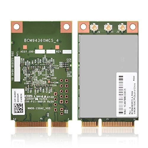 Richer-R Wireless WLAN-Karte, Universal 1300Mbps 5GHz Drahtlose Mini PCi-E Wifi Karte 802.11a / b/g / n/ac WLAN Karte Adapter,Unterstützung Win7 PC/Laptop usw. Universal Wireless Adapter
