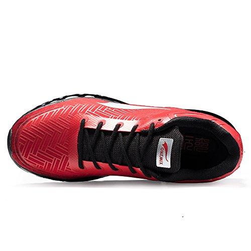 Onemix Uomo Air Scarpe da Ginnastica Cheetah Scarpe da Running Scarpe Sportive Nero Rosso