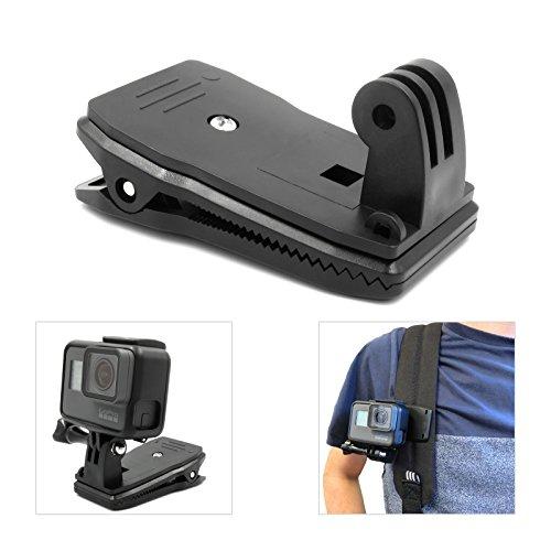 El accesorio perfecto para grabar con GoPro. El soporte de clip de liberación rápida GoPro giratorio de 360 grados para mochila es el accesorio más imprescindible. Una vez totalmente seguro y enganchado en un sombrero o mochila, puedes girar tu GoPro...