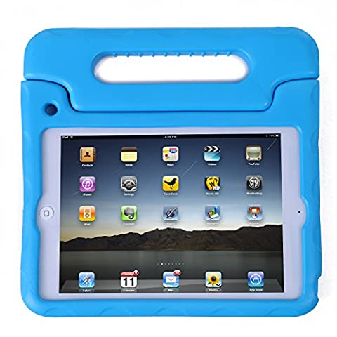 HDE iPad Mini Kids Case Shockproof Handle Stand Cover for Apple iPad Mini 2/3 Retina (Quilted Blue)