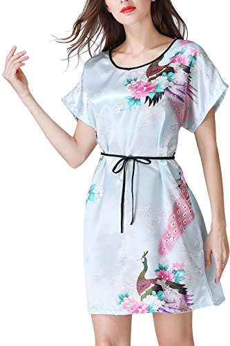 Dance Fairy Molliya Camicia da Notte Donna Scollo a V Comodo Semplice Camicia da Notte Manica Mezza Materiale Modale Morbido