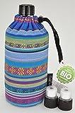 Emil die Flasche 0,4 Liter inklusive Trink Cap und Zusatzverschluss (Emil 0,4 Liter Aztek Cap Edition)