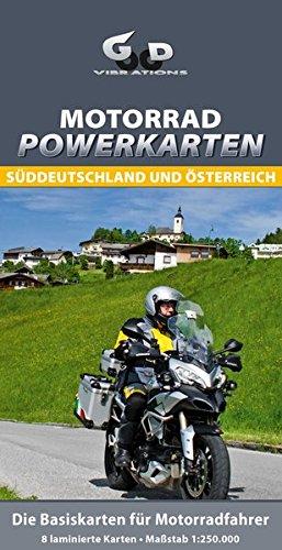 Motorrad Powerkarten Süddeutschland und Österreich: Wasserfeste Landkarten für Motorradfahrer (Motorrad-karten)