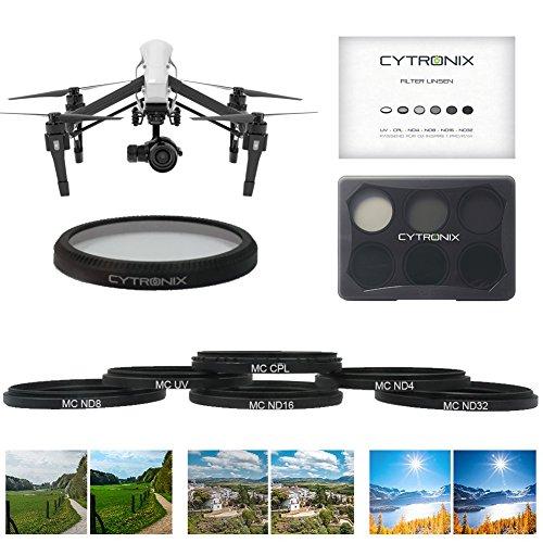 Lens Forth Kamera Objektivfilter Drohne Linsenfilter Kit 6 Set UV CPL ND4 ND8 ND16 ND32 Togetherness out für DJI Calibration beau id off 1 Pro/RAW X5 X5R Drone Quadcopter UVA Zubehör