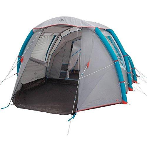 Quechua Air Sekunden 4.1XL Familie Camping Zelt | 4Mann, Silber/Blue, 4.1 XL