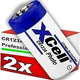 2er Pack CR123 / CR123A Lithium Hochleistungs- Batterie für professionelle Anwendungen - Neueste Generation