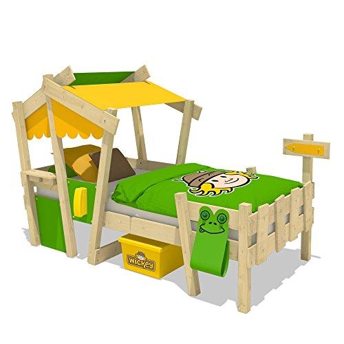 WICKEY Kinderbett CrAzY Candy Jugendbett 90x200cm mit Lattenboden, gelb-apfelgrün - 2