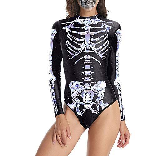 Anatomie Kostüm - Sfit Halloween Kostüme Damen Badeanzug Langarm