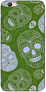 The Racoon Grip printed designer hard back mobile phone case cover for Oppo F1s. (Forest Sku)