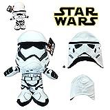 S&W Star Wars - Peluche Stormtrooper, Soldado Blanco 11'/29cm Calidad Super Soft + Gorro para niño