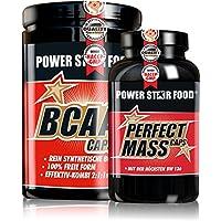 Preisvergleich für AMINOSÄUREN MUSCLE PACK, 500 Kapseln BCAA CAPS und 500 Kapseln PERFECT MASS CAPS hochdosiert - der beste Aminosäuren...