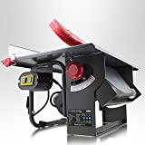 BITUXX® Mobile Tischkreissäge Kreissäge Säge 800 Watt inkl. Sägeblatt, Gehrungslehre, Parallelanschlag, Stock -