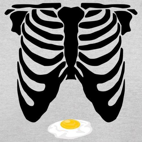 Skelett Ei Bauch - Herren T-Shirt - 13 Farben Hellgrau