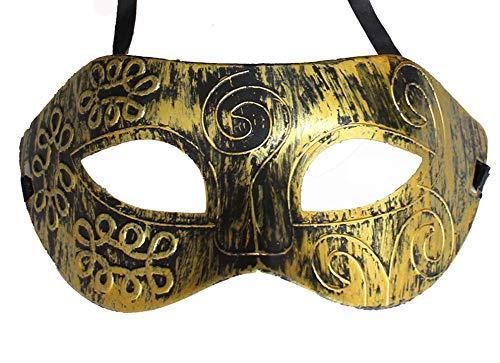 Boolavard TM Neuankömmling Jazz Herren Maske Halloween Maskerade Masken Venezianische Tanzparty Maske (Gold)