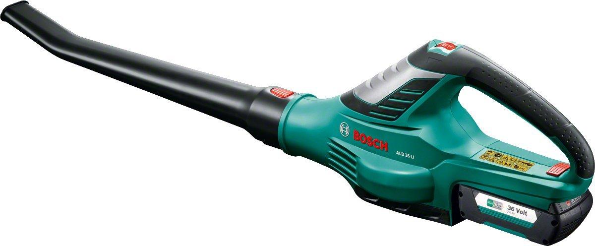Bosch Akku Laubbläser ALB 36 LI (Akku + Ladegerät) 260 km/h, 36 Volt, 2,0 Ah