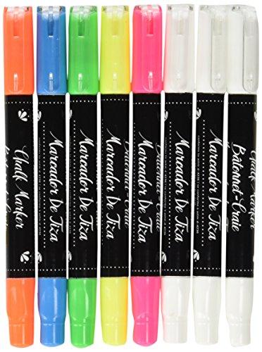 american-crafts-marcadores-de-tiza-borrable-yellowpinkgreenblue-naranja-y-blanco-acrilico-multicolor