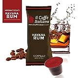 Il Caffè Italiano 5 Cápsulas por Paquete para un Total de 50 Capsulas, Compatibles Nespresso Sabor Havana Rum.