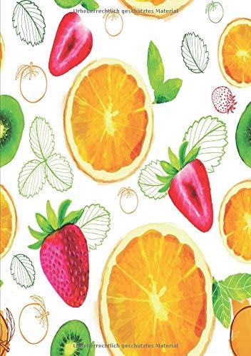 Fruchtiges Notizbuch: Ein Notizbuch mit frischem Obst Design Obst Design