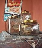 Ludvig&Co 3er Set *Bonbon Gläser* eckig Vorratsglas Vorratsbehälter Bonbonglas Bonboniere - Nostalgie