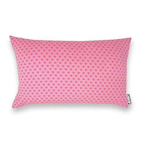 Federa per cuscino in jersey, 25x 40cm, in diversi colori e motivi, per cuscino cervicale, da viaggio, per bambini, di salute, adatto per cuscini da viaggio volar, sternchen rosa, 25 x 40 cm