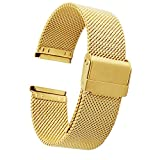 ZHUGE Fashion Uhrenarmband - Edelstahl Uhrenarmband Milanese Mesh 18mm 20mm