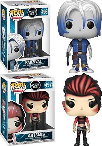 Funko POP Ready Player One Parzival Art3mis Stylized Vinyl Figure Bundle Set NEW