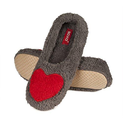 Soxo Grigia Pantofole Dimensione Donna Sola rqxBz7rw8