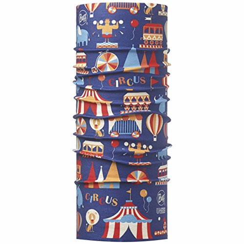 Original Buff Circus Royal Blue - High UV Protection para niños hasta 3-9 años, diseño estampado