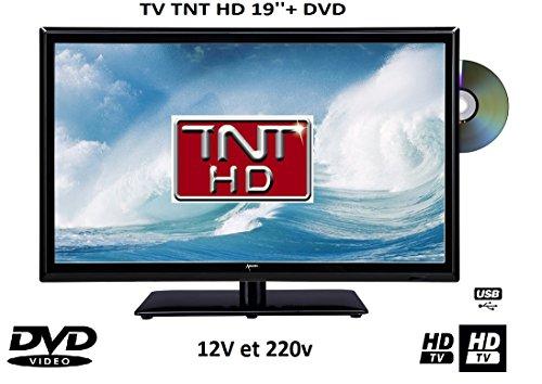 Televisión TV + DVD LED 18.5'HD LED 12V/220V Camping Car