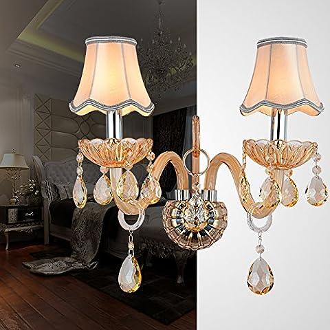 LLHZ-de lujo de estilo europeo lámpara de pared de cristal de diseño moderno salón dormitorio cabecera escaleras pasillo la iluminación en
