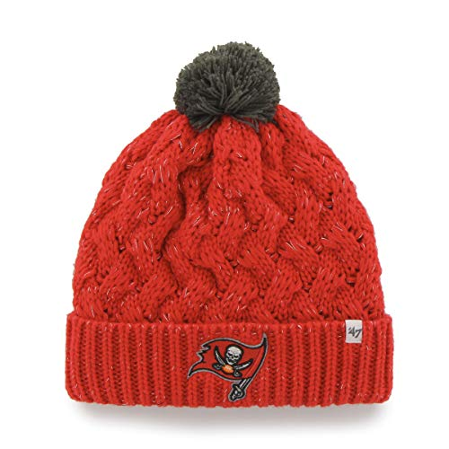 47 Brand Damen Mütze Fiona Beanie mit POM POM - NFL Damen Cuffed Häkelstrick Toque Cap, Damen, blau