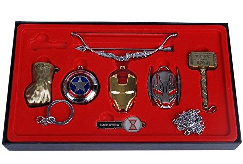 Juego 7 llaveros diseño Hulk Thor Los Vengadores